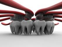 牙齿卫生学概念 皇族释放例证
