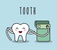 牙齿卫生学设计 皇族释放例证
