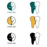牙齿商标。愉快的面孔象。 库存照片
