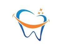 牙齿商标模板传染媒介 免版税库存照片