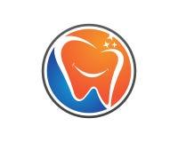 牙齿商标模板传染媒介 库存照片