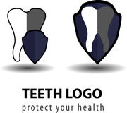 牙齿商标模板 免版税库存图片