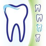 牙齿图标设置了牙 库存照片