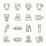 牙齿图标 皇族释放例证