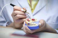 牙齿实验室 免版税图库摄影