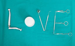 牙齿工具 库存图片