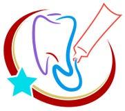 牙齿徽标 免版税图库摄影