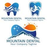 牙齿概念商标版本山和自然 免版税库存图片
