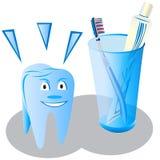 牙齿的关心 免版税库存图片