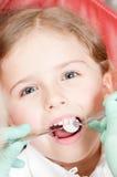 牙齿的核对 免版税库存照片