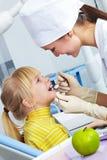 牙齿的核对 免版税图库摄影