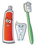 牙齿的漫画人物 免版税库存照片