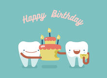 牙齿的生日快乐 库存例证