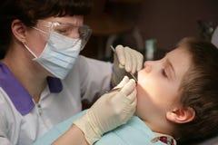 牙齿的诊所 免版税库存图片