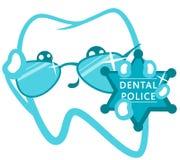 牙齿警察 与徽章的警察 免版税库存图片