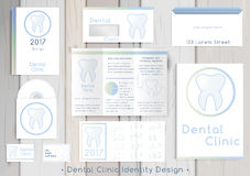 牙齿诊所公司本体 免版税库存图片