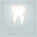 牙齿诊所商标设计 免版税图库摄影