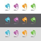 牙齿诊所的商标 彩色组 免版税库存照片