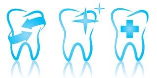 牙齿集合 免版税库存图片