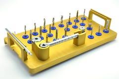 牙齿implantology仪器 免版税库存照片