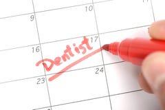 牙医任命的提示 免版税图库摄影