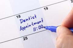 牙医任命 免版税库存图片