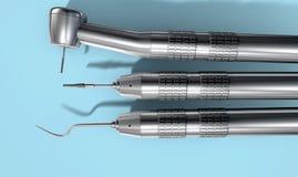 牙医工具 库存图片