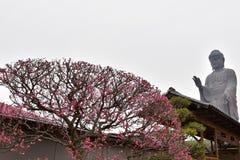 牛久市Daibutsu是最高的佛教雕象 免版税库存图片