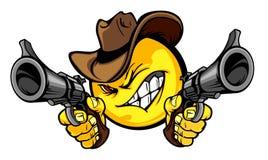 牛仔例证徽标面带笑容 皇族释放例证