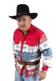 牛仔向您的枪求助 免版税图库摄影