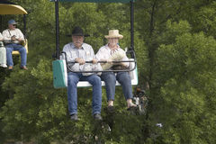 牛仔夫妇 免版税库存照片