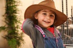 牛仔女孩帽子一点 库存图片