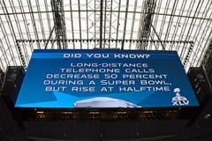 牛仔巨型记分牌体育场 库存图片