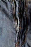 牛仔布与拉链的牛仔裤背景 免版税库存照片
