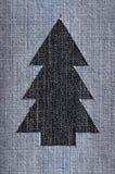 牛仔布圣诞树 免版税图库摄影