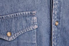 牛仔布衬衣 免版税图库摄影