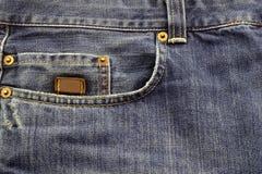 牛仔布裤子 免版税库存照片