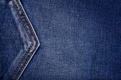 牛仔布 精密背景的蓝色牛仔裤 库存图片
