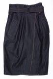 牛仔布s裙子妇女 库存照片