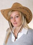牛仔帽妇女 图库摄影