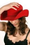 牛仔帽红色 库存图片
