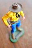 牛仔形象玩具 免版税库存照片