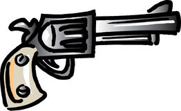 牛仔手枪 库存例证