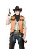 牛仔枪纵向 免版税库存图片