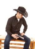 牛仔枪藏品开会 免版税库存照片