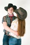 牛仔的爱情小说 库存照片