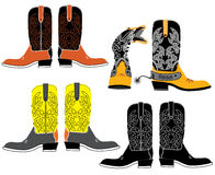 牛仔穿上鞋子向量 库存例证
