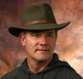 牛仔纵向蓄牧者 免版税图库摄影