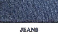 牛仔裤为时尚样式构造 免版税库存照片