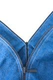 牛仔裤二个拉链 库存图片